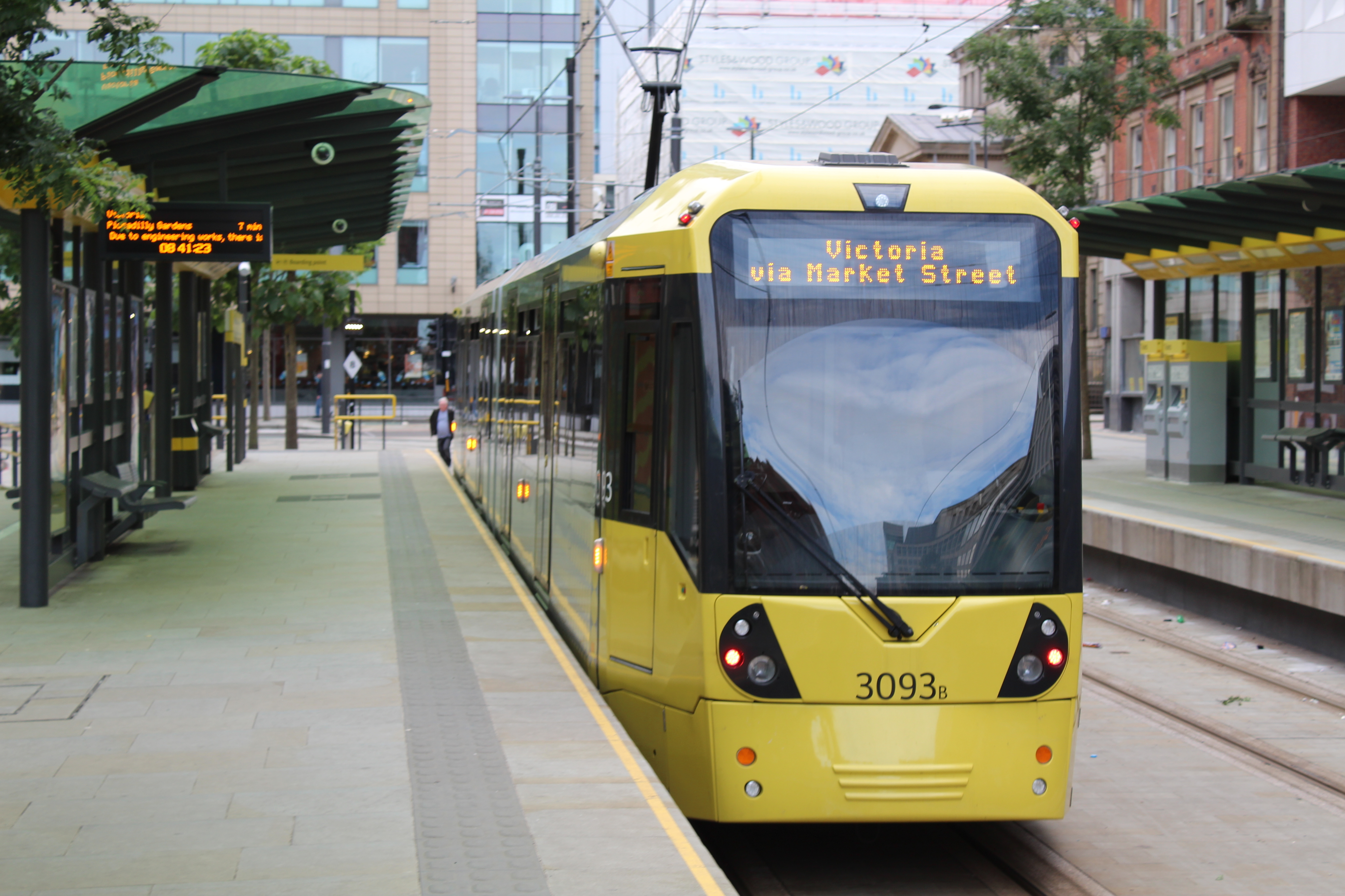 Travelling By Metrolink Tram To The Airport Manchester Airport