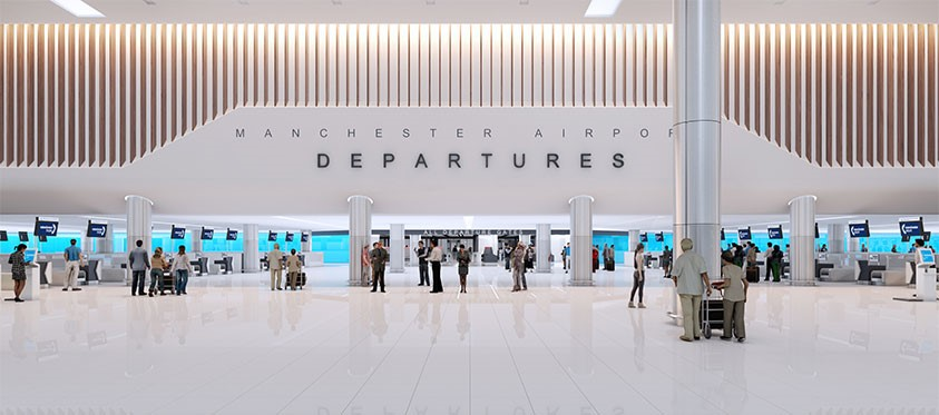 The new departures area which will be built as part of MAN-TP