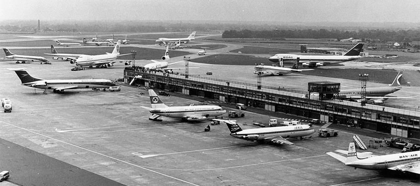 A scene from Manchester Airport in the 1970s