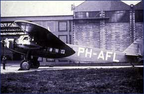 KLM Fokker lands at Barton