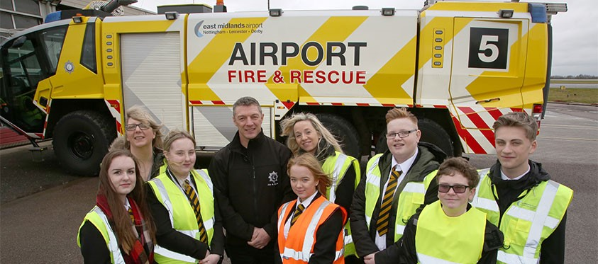 Meeting the Fire and Rescue service at East Midlands Airport