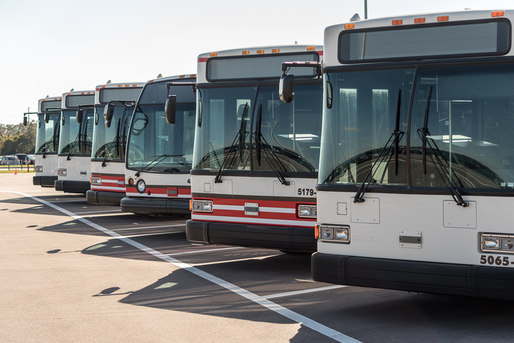 Scheduled bus transfers