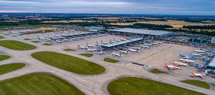 London Stansted Airport from the air