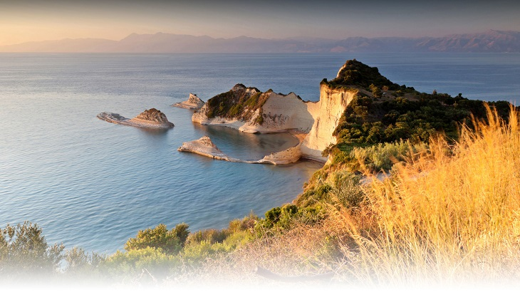 The coast of Corfu