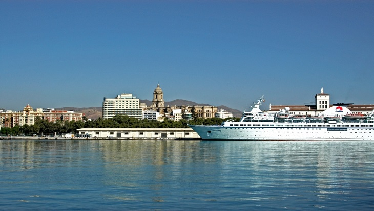 A cruise ship in Spain