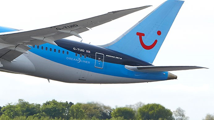 TUI arrivals and departures