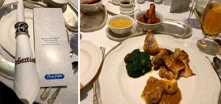 ITC Maurya hotel tasting menu