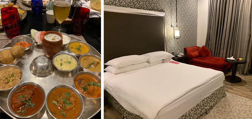 Incredible Rajasthani food at ITC Rajputana hotel, Jaipur