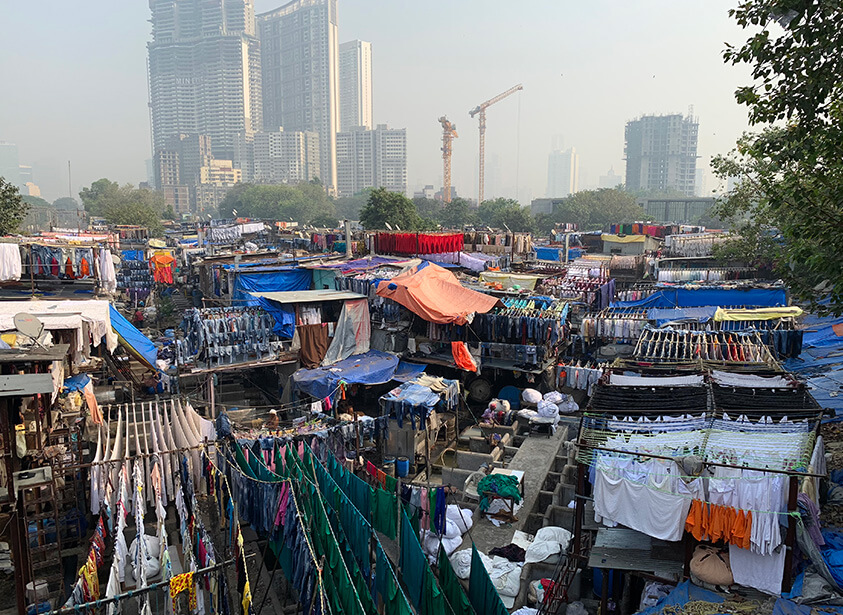 Mumbai's outdoor laundry is a visual treat