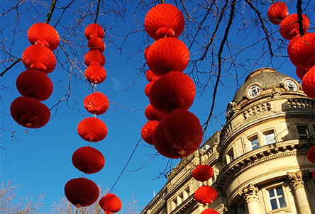 Lanterns for Lunar New Year in Manchester