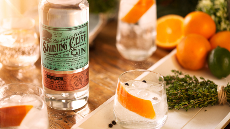 A Bottle Of Shining Cliff Gin & Distillery Tour For 2