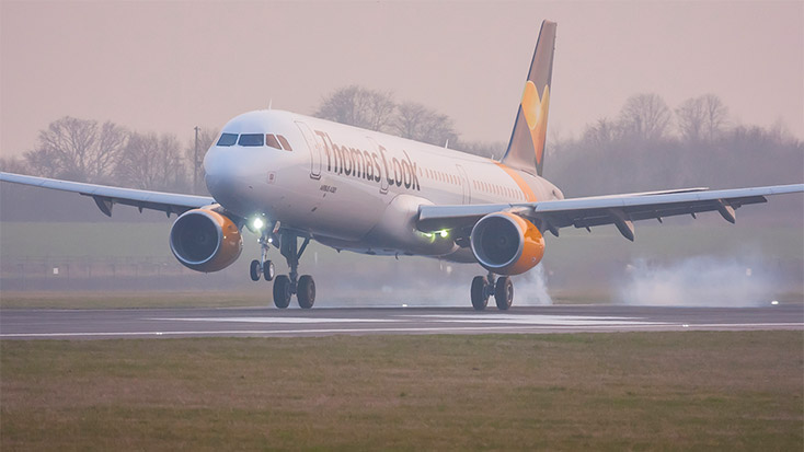 Thomas Cook arrivals and departures