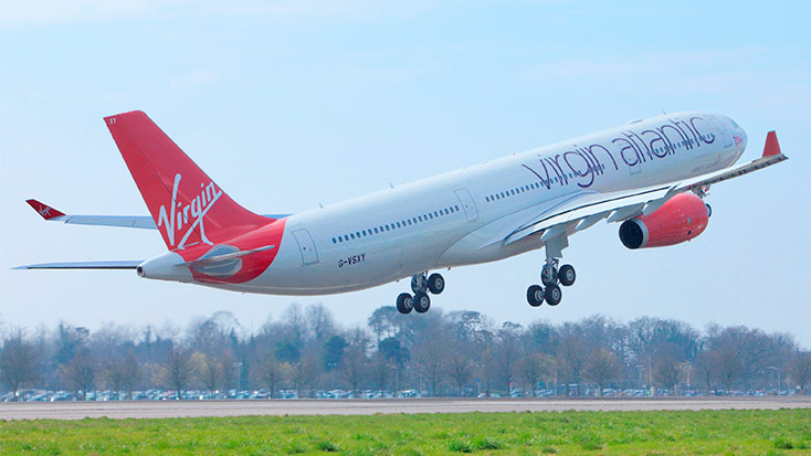 Virgin Atlantic arrivals and departures