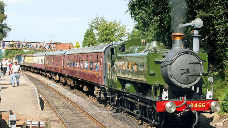 Two Tickets for the Battlefield Line's Winter Warmer Steam Gala