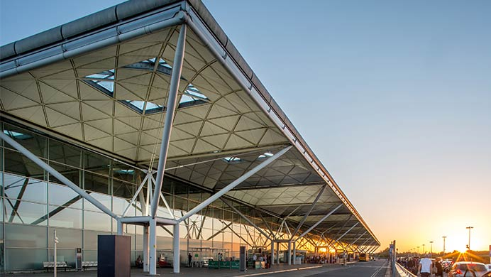 The terminal at London Stansted Airport