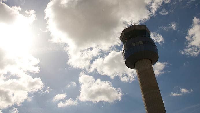 The tower at East Midlands Airport