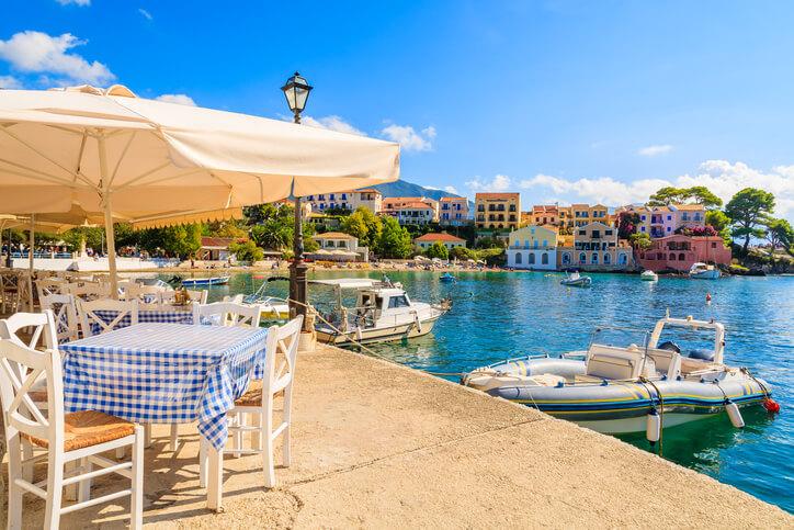 Waterside bar in Corfu, Greece