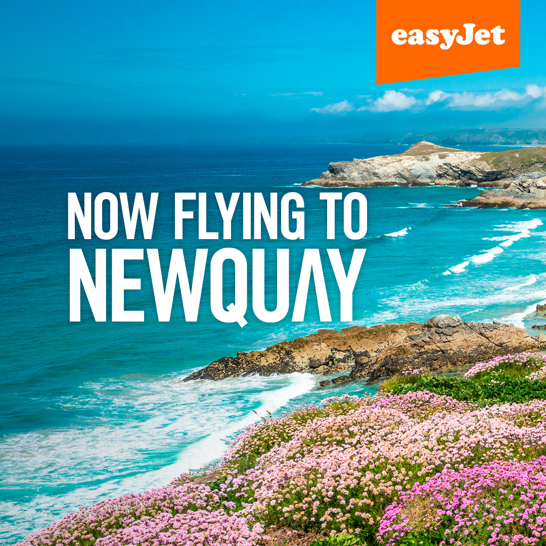 easyJet flight from Manchester to Newquay